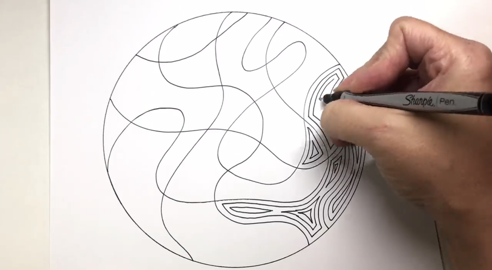 By simply using lines within shapes, you can create a series of cool easy drawings.