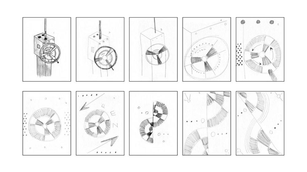 Find new compositions by transforming your original sketch a few times.