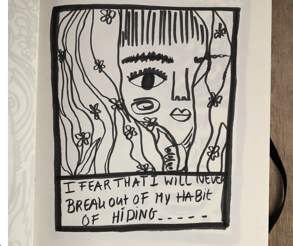 An example of drawing your fears by Skillshare student Jorinde Van den Bosch.