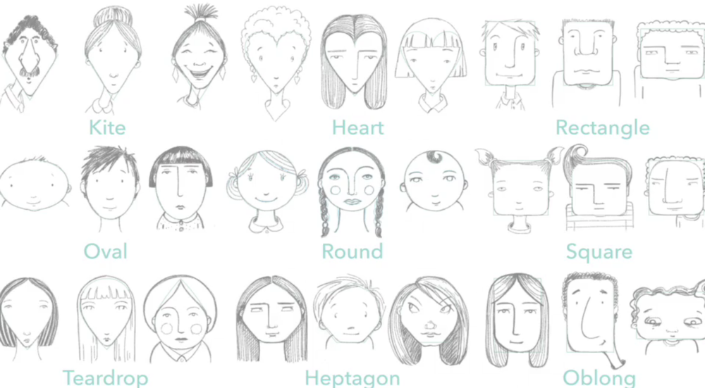 Using basic shapes, you can create all sorts of faces.