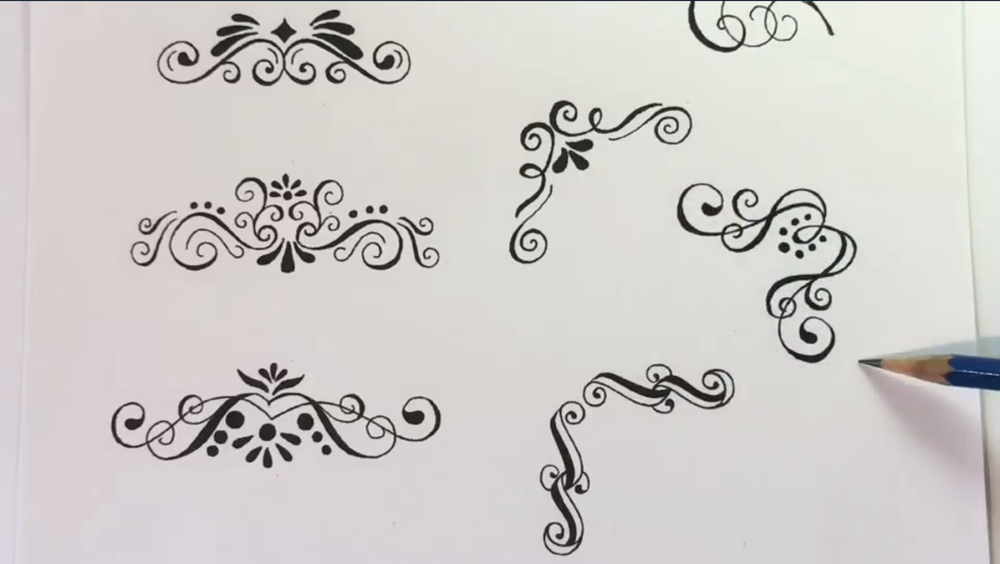Enhance your designs and lettering with traditional flourish techniques.