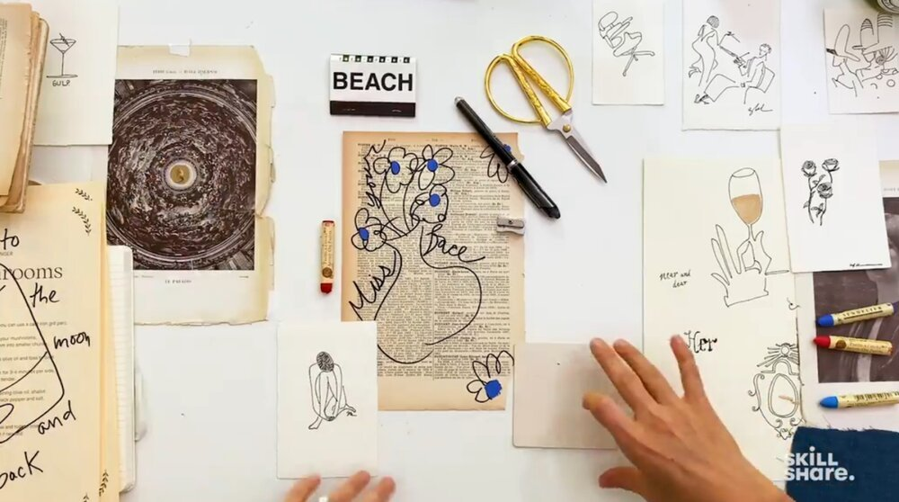 Use old books, magazines, and paper cuttings to make a personalized greeting card.