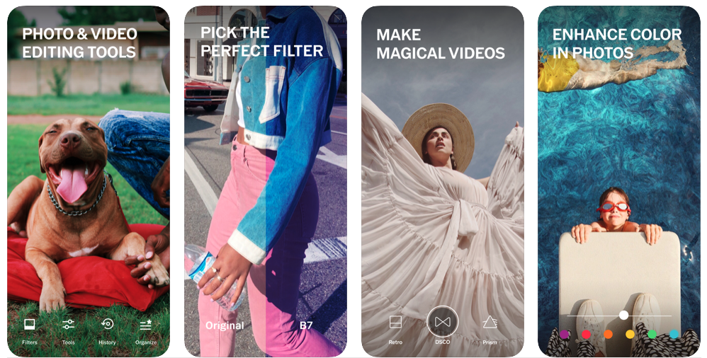 Source:    https://apps.apple.com/us/app/vsco-photo-video-editor/id588013838     Features of the VSCO app