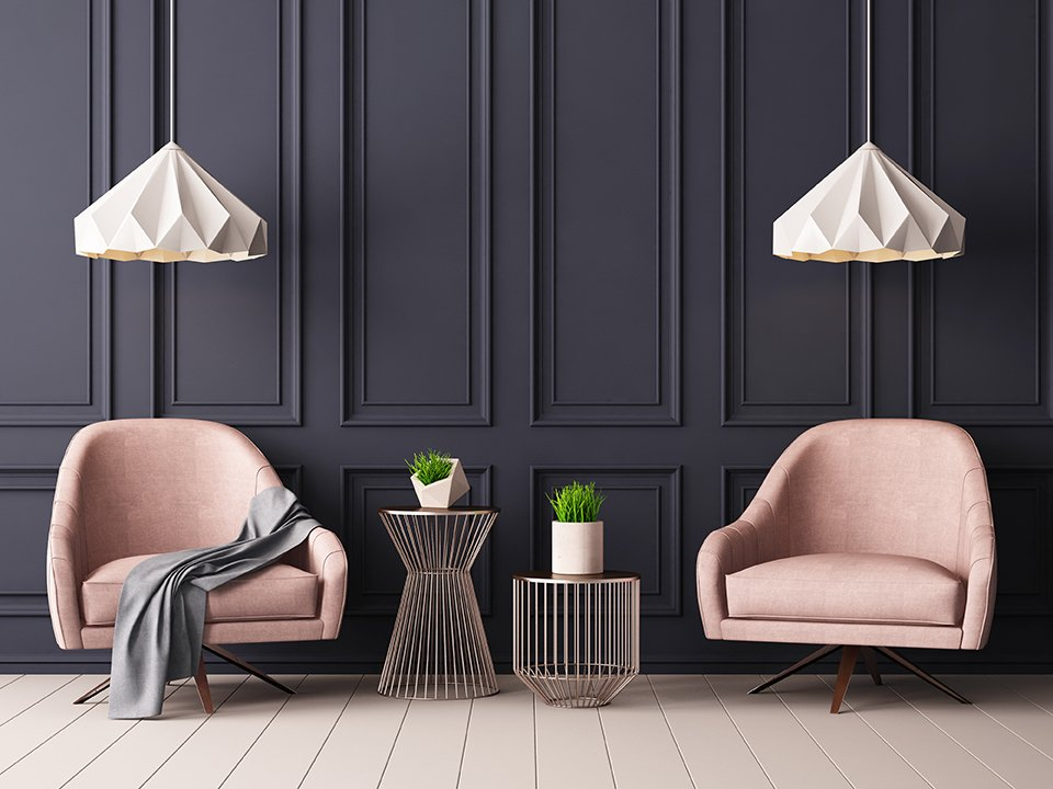 When it comes to style, your paint type and color is just as key as your furniture.