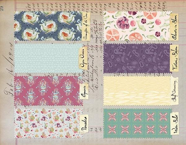 Fabric patterns can be a wonderful source of inspiration for color palettes.