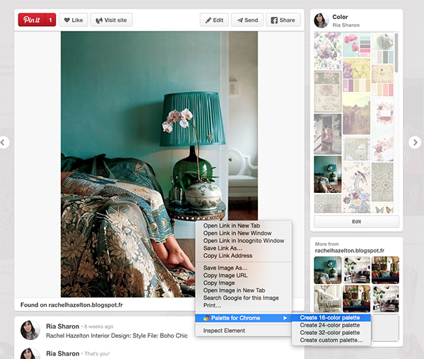 Use online tools, like Palette for Chrome, to build your color palette.