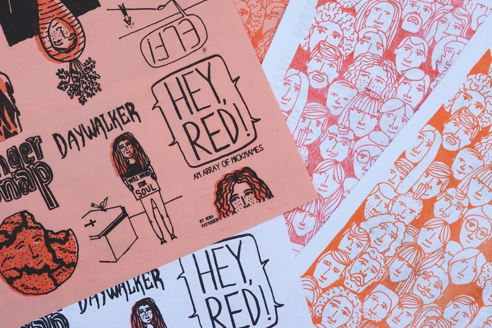 Hey Red 'Zine by Nora Patterson (image courtesy of the artist)