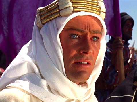 Peter O' Toole in  Lawrence of Arabia,  a grand, historic epic that used new technology to push cinematography to new heights.