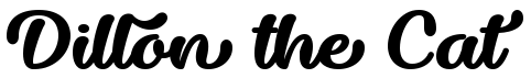 Dillon the Cat calligraphy font