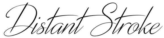 Distant Stroke calligraphy font
