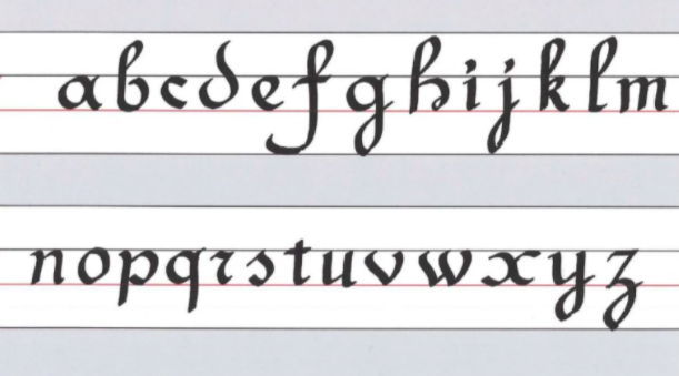 Skillshare student Fabian Barretoshows his French Cursive Calligraphy progress with lowercase letters