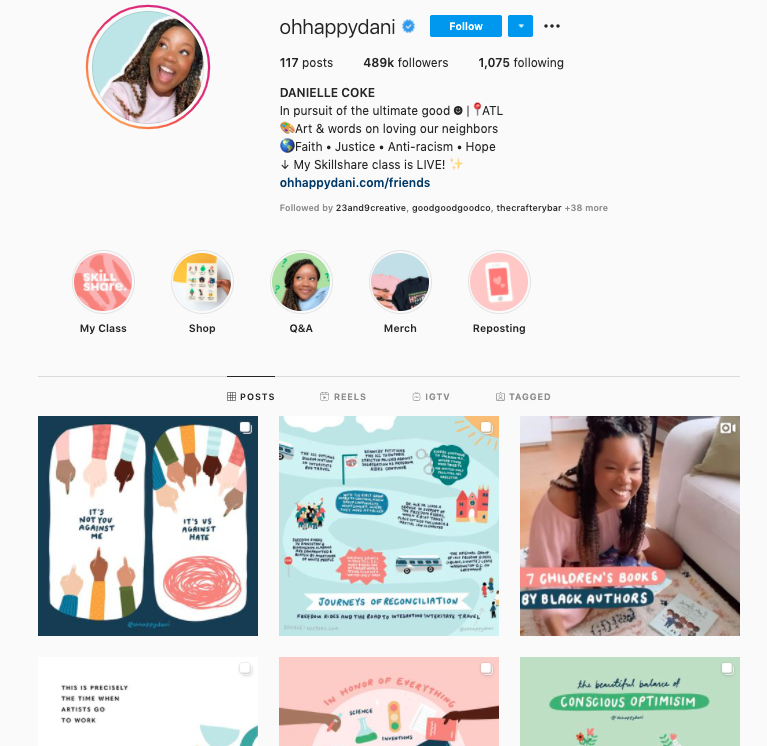 One look at Danielle Coke's Instagram feed shows you her joyful and bright approach to design.