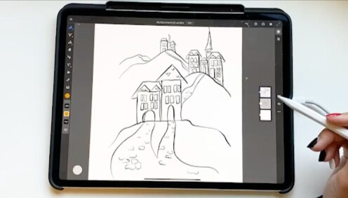 Draw out the outline for your illustration.