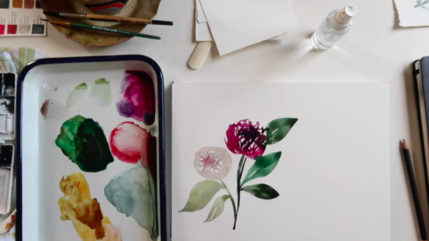 Watercolors are incredibly easy to blend, allowing shades of color to bleed effortlessly into each other.