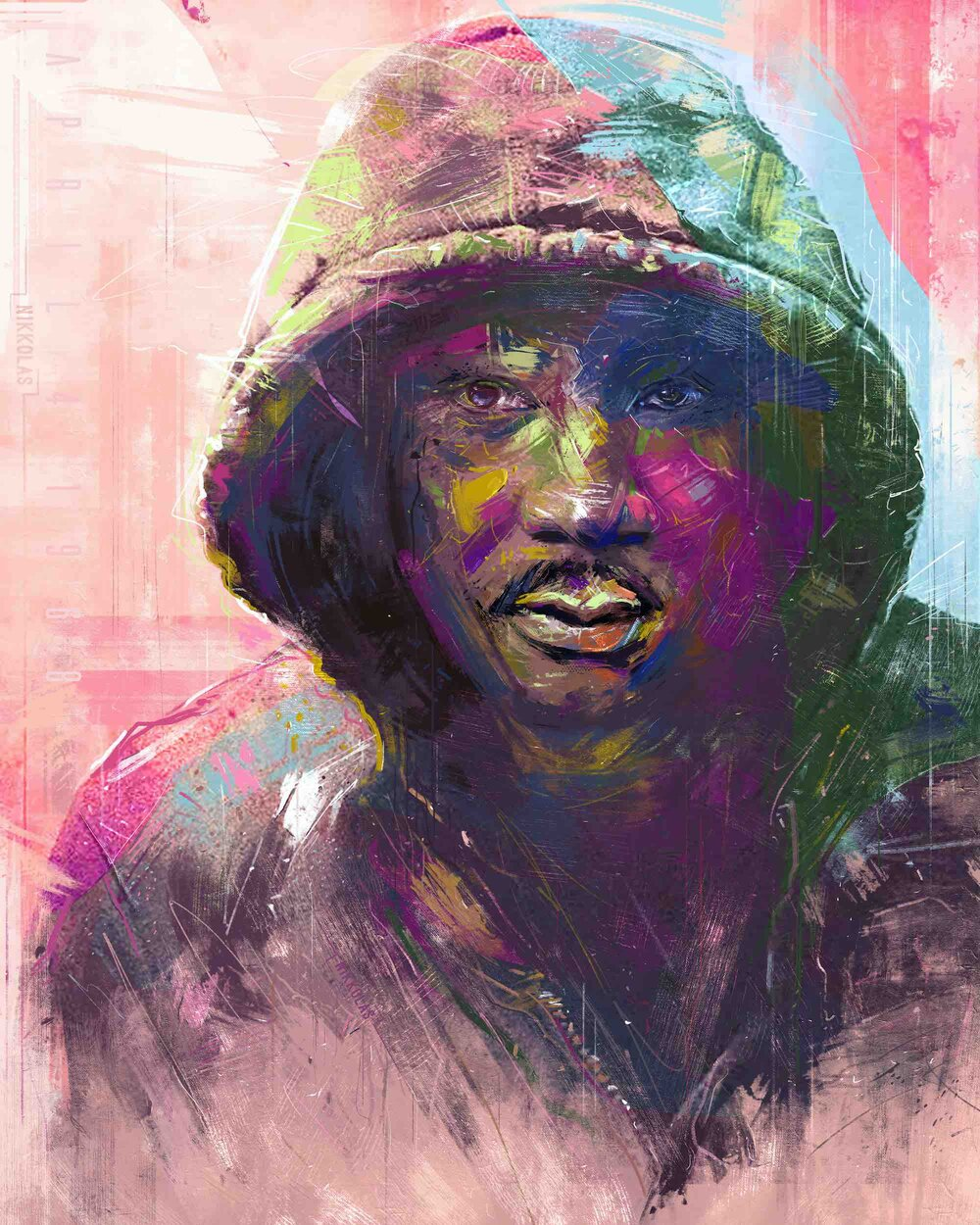 Nikkolas Smith's speed painting of Dr. Martin Luther King Jr. in Trayvon Martin's hoodie