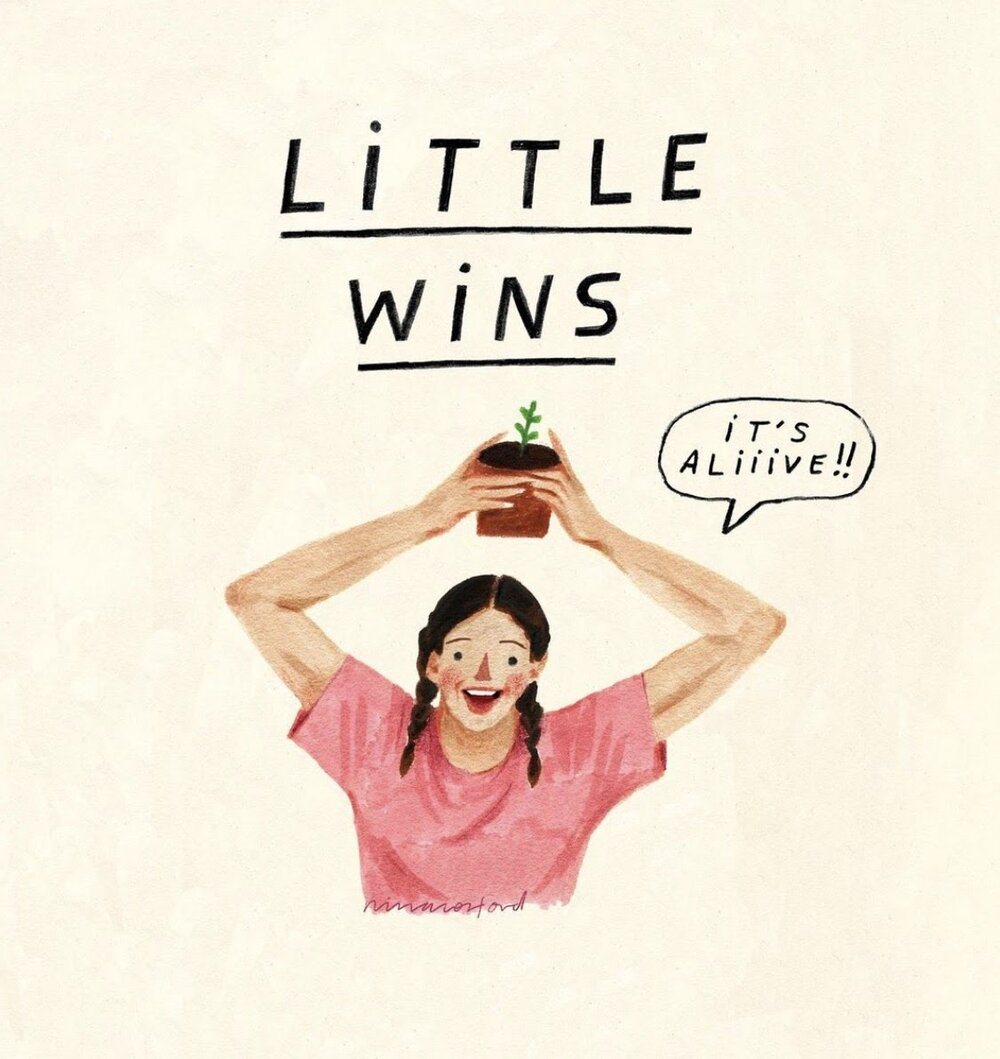 Image via  Instagram   Little Wins by Nina Cosford.