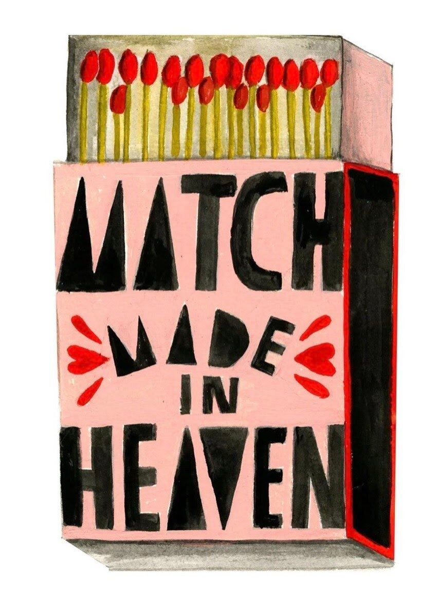 Image via Instagram  Match Made in Heaven by Lisa Congdon.