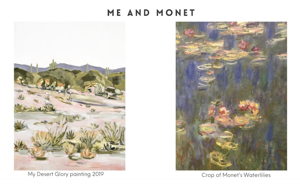 Inspired by Impressionist painter Claude Monet, LaurieAnne Gonzalez shows how she developed her own style.