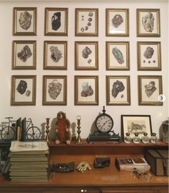 Illustrator Rebecca Hendin displays a variety of odds and ends in her studio, but still manages to keep them neat and organized.
