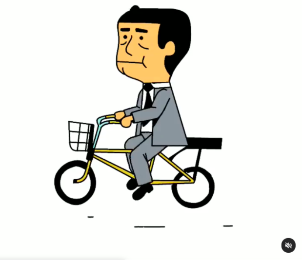 Alex Grigg's animation of a man on a bike is just one of many styles of art that he shares on his Instagram feed.