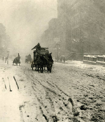 Winter 5th Avenue  by Alfred Stieglitz ( image source )