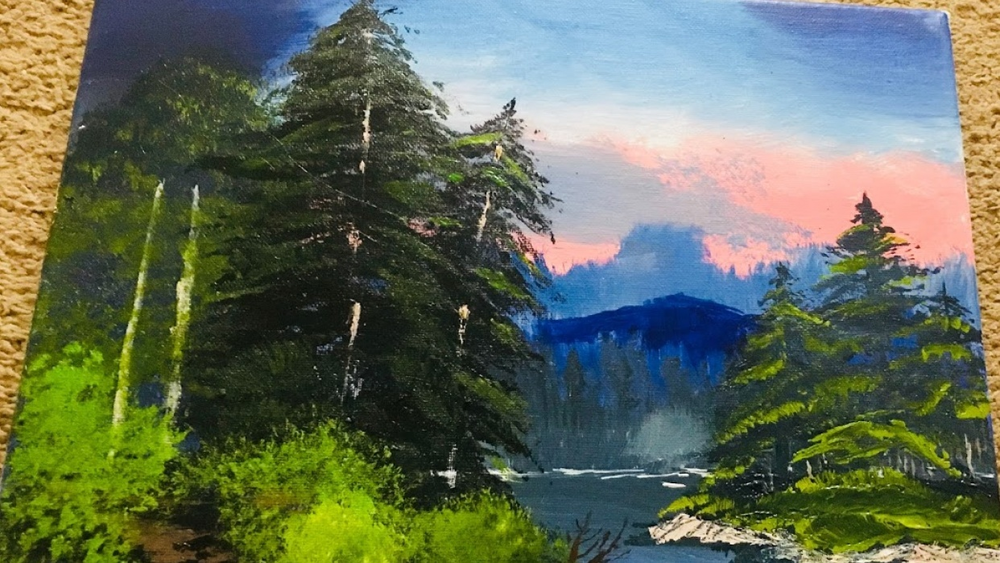 Student work by Mounika G. for   Acrylic Painting for Beginners: The Complete Guide to Your First Acrylic Painting  .