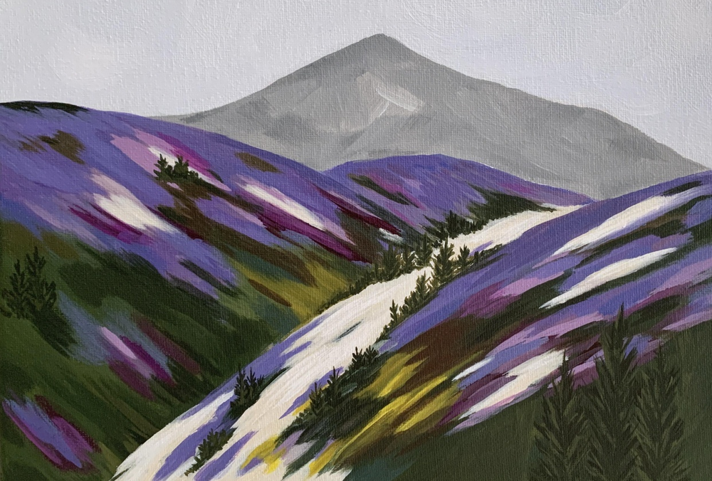 Student work by Katie Nelson for   Acrylic Painting: Explore a New Composition Using a Reference Photo  .