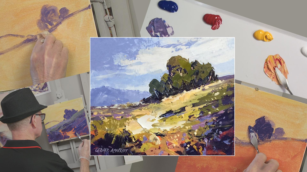 Painting with a palette knife can add texture to your acrylic paintings.