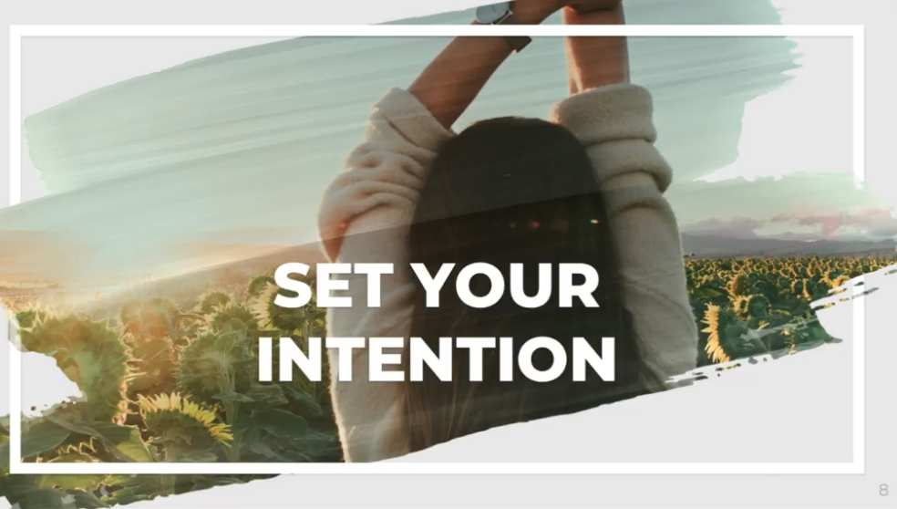 Try setting intentions as part of your morning self care routine.