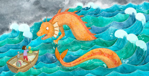 Sea Serpent by Lucy Farfort