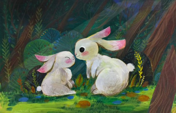 bunny, I love you (acrylic, color pencil) by Dream Chen