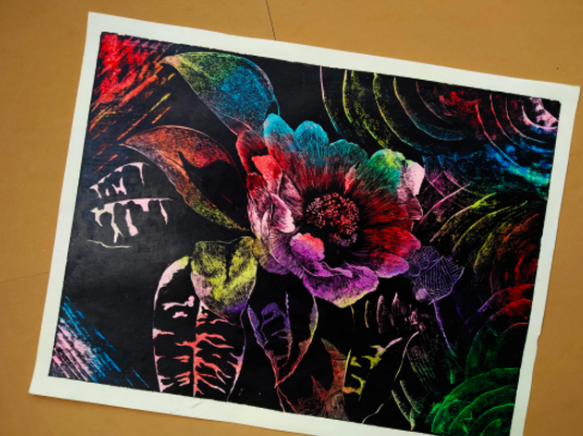 Try something new with crayon scratching!