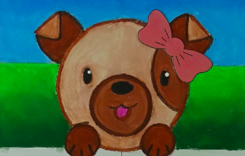 Enjoy your crayons while creating this adorable puppy.