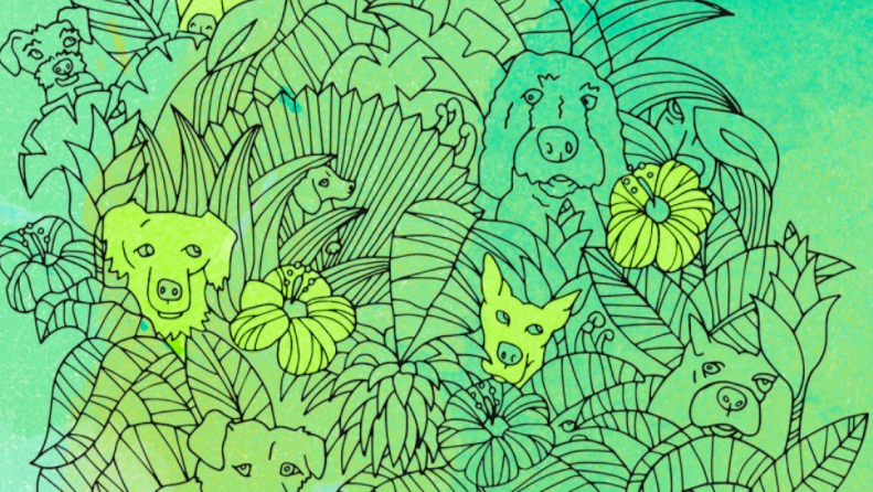 Like Skillshare instructor Ria Sharon, you can make your own coloring page to use with your crayons.
