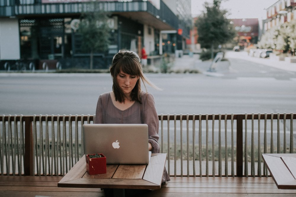 Working outside of the house will help you unplug when you're home ( image source )