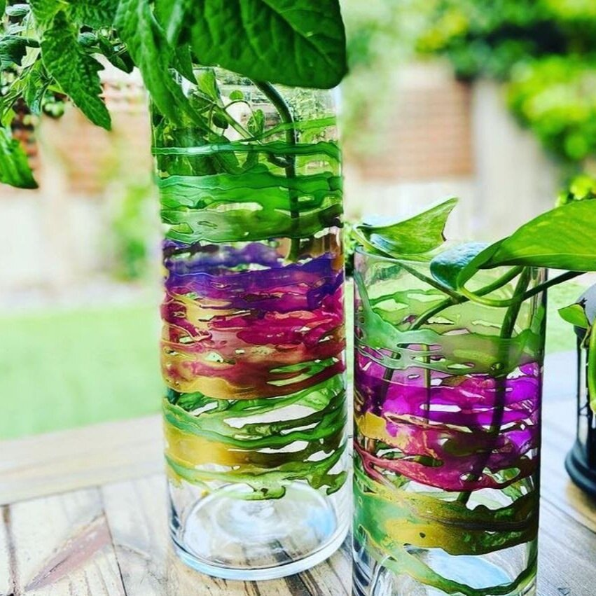 Use paint to turn a simple glass vase into a true work of art.