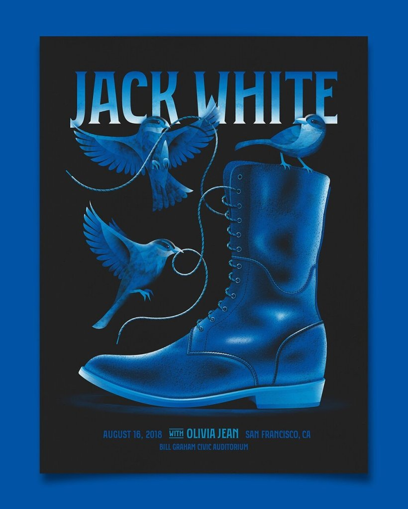 DKNG concert poster for Jack White