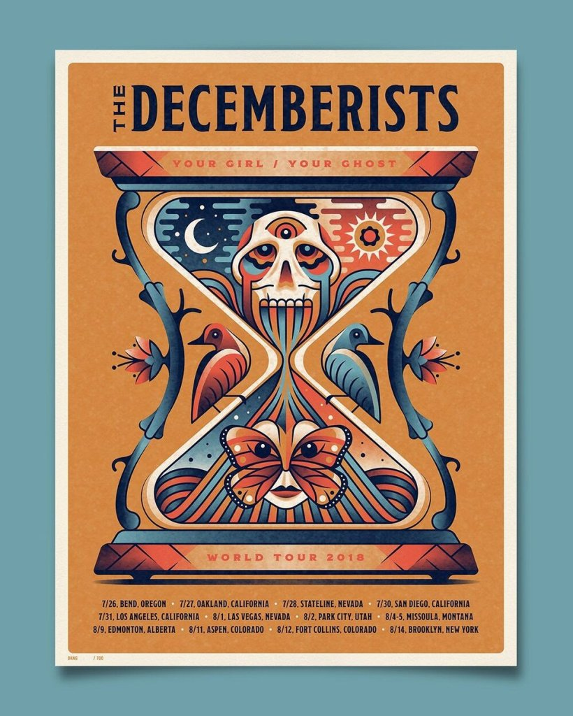 DKNG music poster for The Decemberists