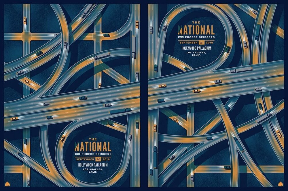 DKNG concert posters for The National