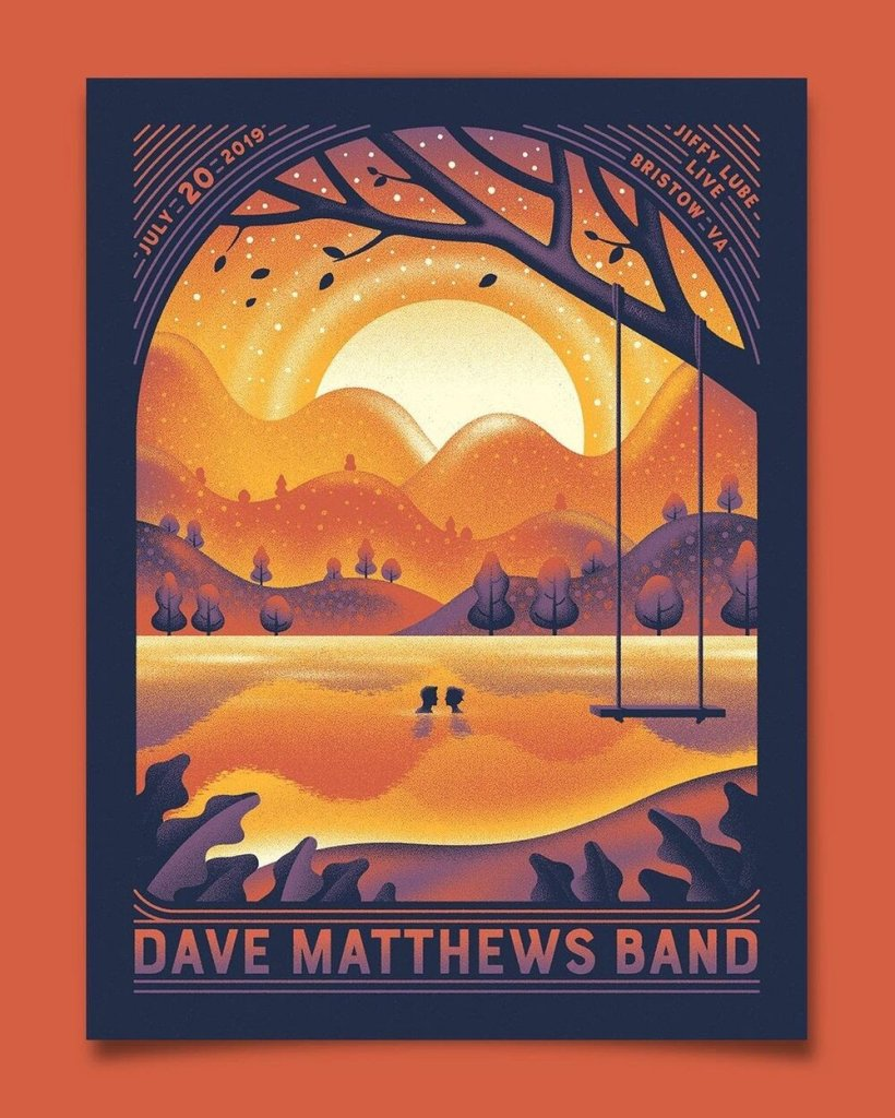 DKNG concert poster for Dave Matthews Band
