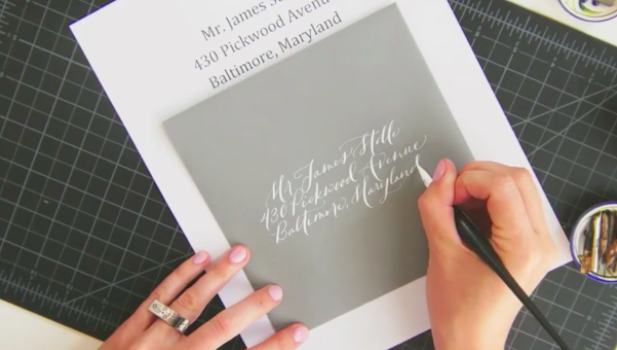 Having names and addresses printed out can help you accurately align your calligraphy on the envelope.