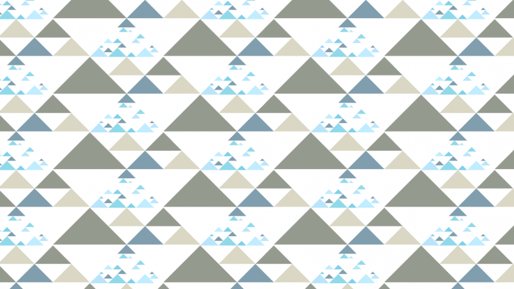 Student work by Melinda Kovacs for   Illustrator for Lunch - Create a Range of Triangle Patterns
