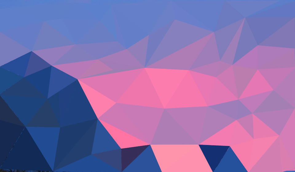 Low poly patterns can be used to portray landscapes and other pictures.