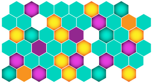 This hexagon pattern is known as a faux pattern.