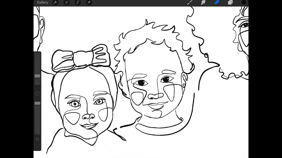 It's easy to create minimalist portraits by hand or with digital tools like Procreate using a line art style .