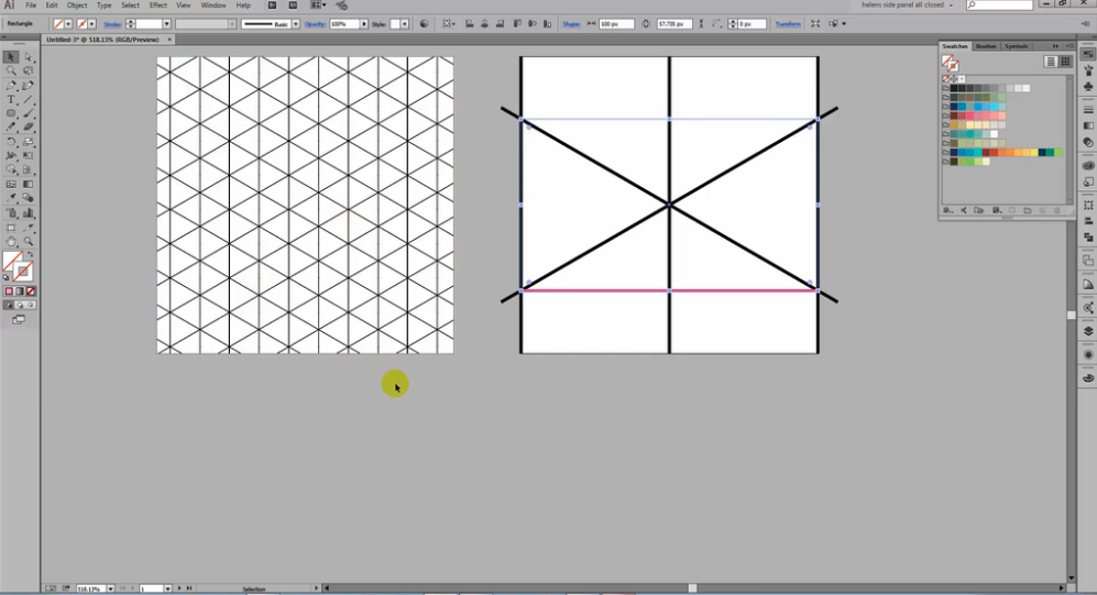 Tools like Adobe Illustrator make it easy for you to create repeating patterns like grids and cubes.