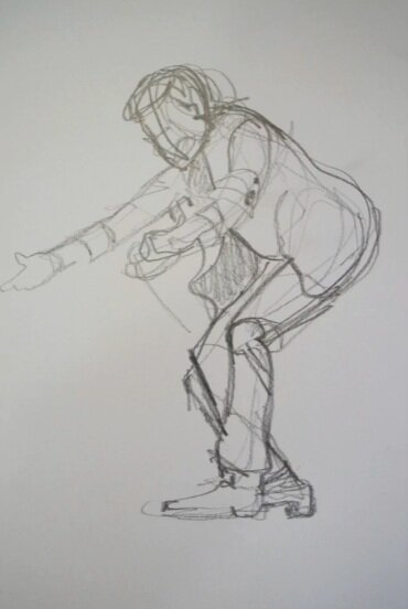 Skillshare instructor Shellie Cleaver demonstrates how to create rough sketches using a single continuous line.