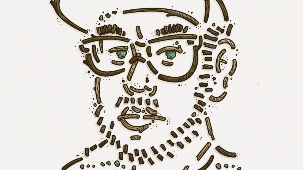 "Ryan Putnam's nature self-portrait from his Skillshare Original, ""Exploring Your Illustration Style"""