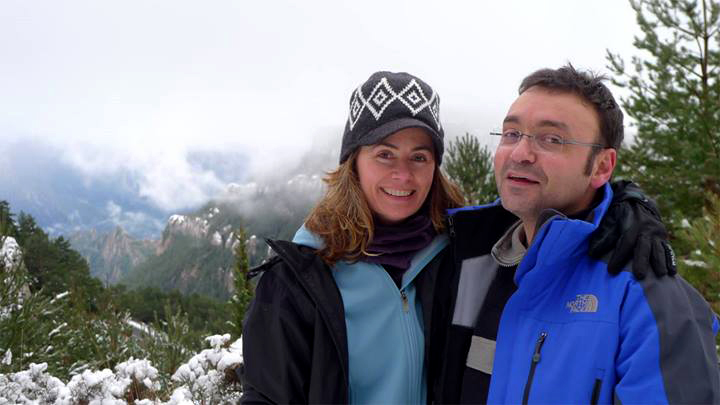 Liza Carey and her husband, Roma (image courtesy of the artist)