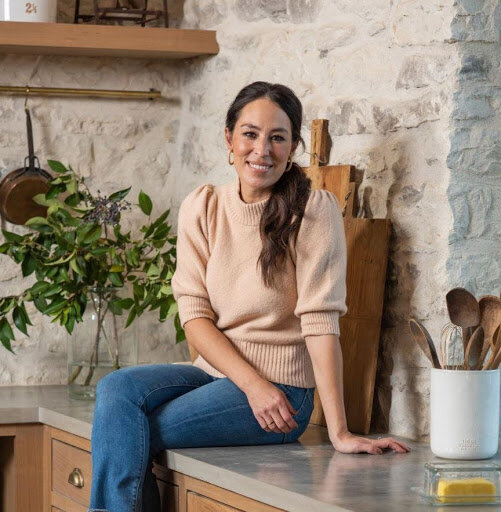 Image via Instagram   @joannagaines    Joanna Gaines poses in a promo for a  Food Network  special.